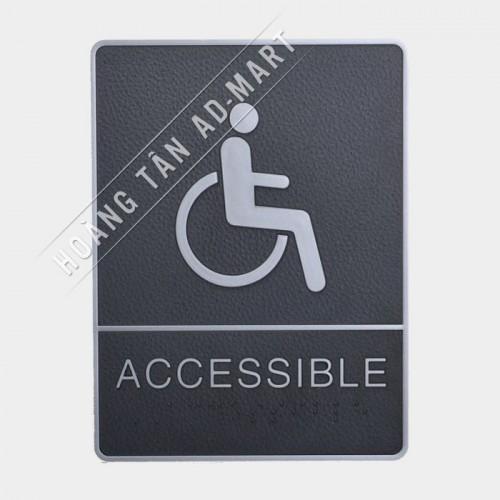 bảng chỉ dẫn accessible toilet