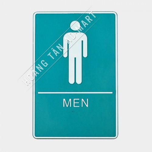 bảng chỉ dẫn toilet nam nhiều màu