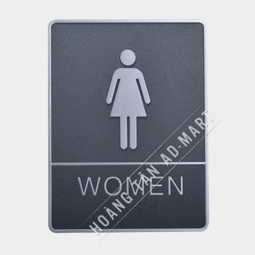 bảng chỉ dẫn toilet nữ